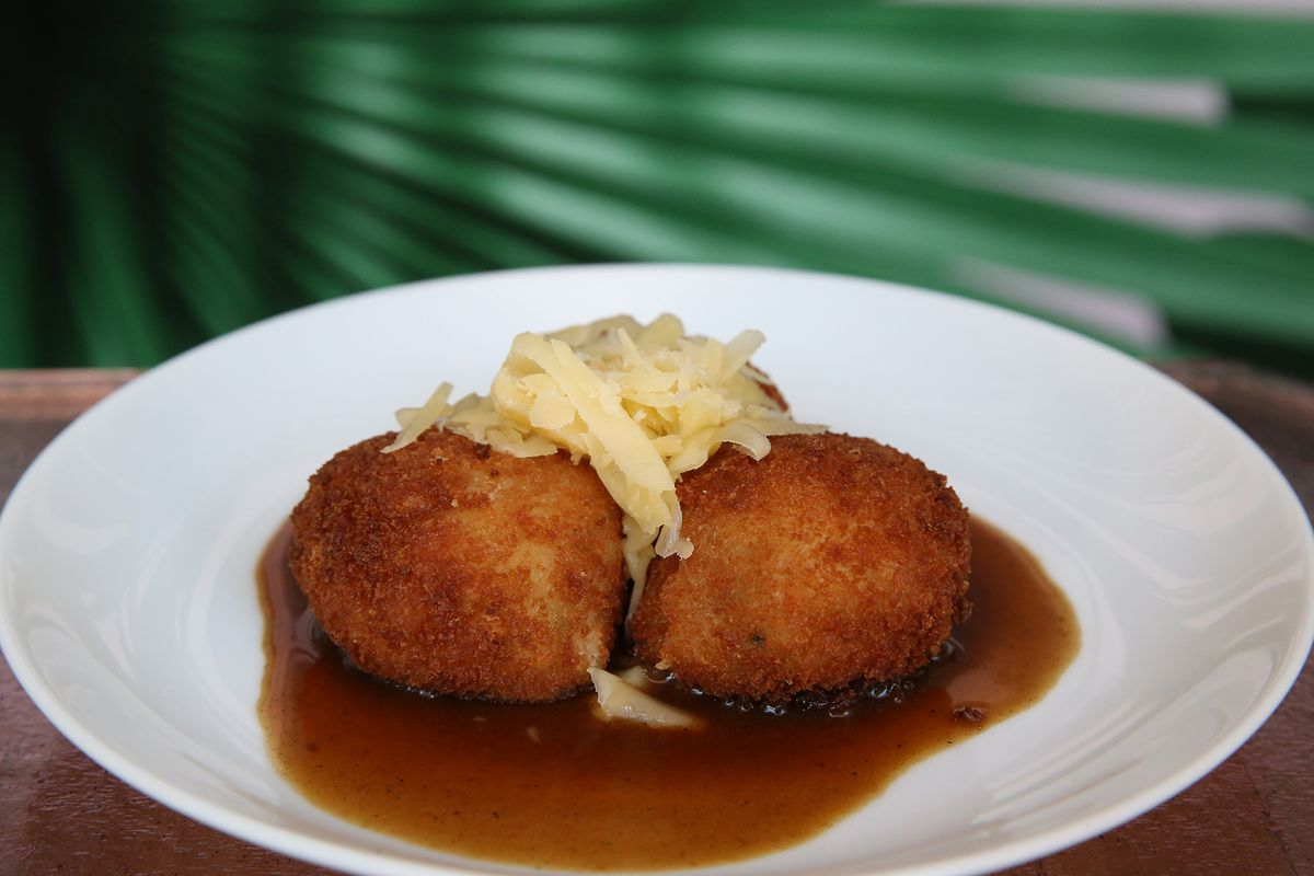 bangers and mash croquette from The Vnyl