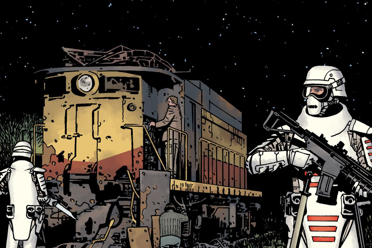 The cover of The Walking Dead #184, Image Comics (2018).