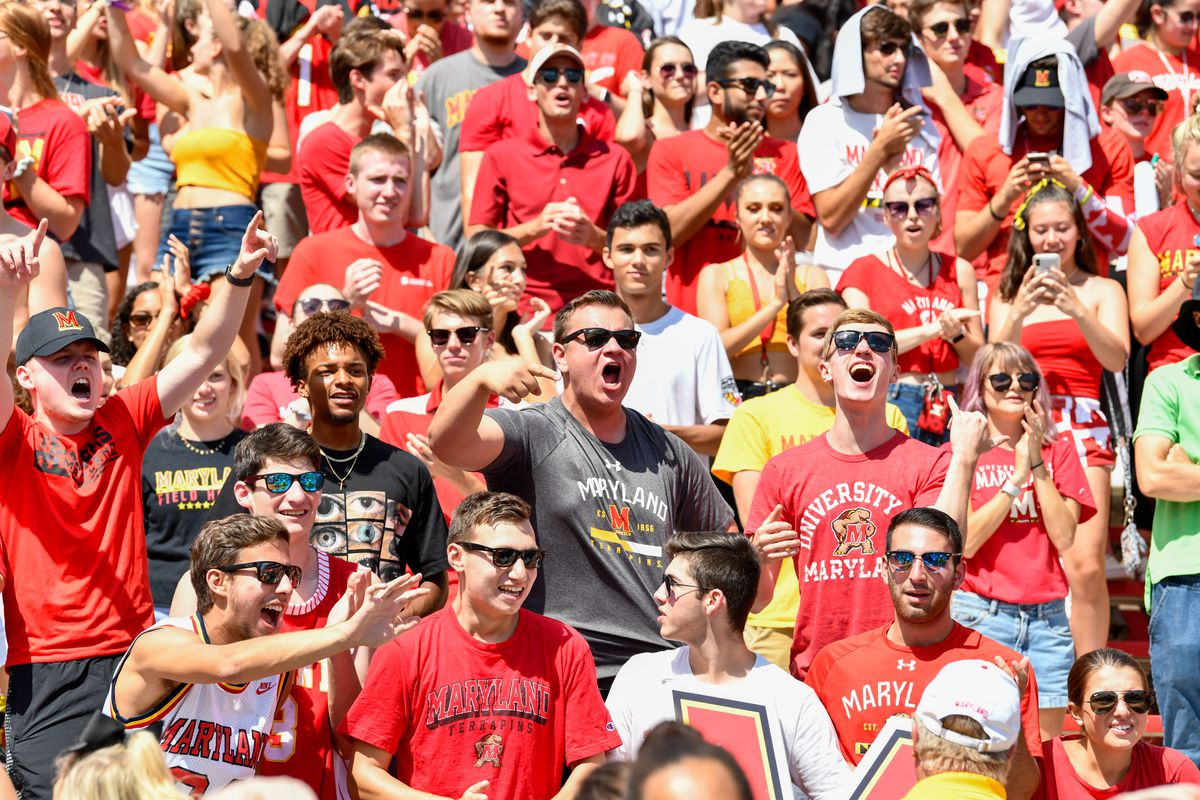 Maryland football crowd, Syracuse