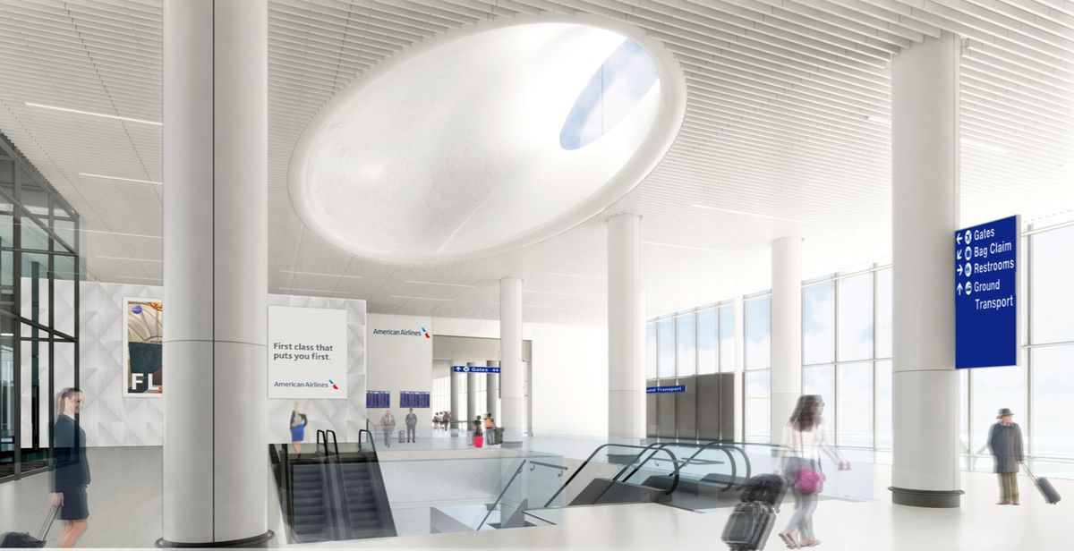American Airlines terminal interior