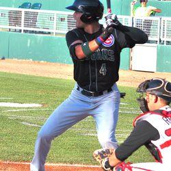 Jake Hannemann at bat