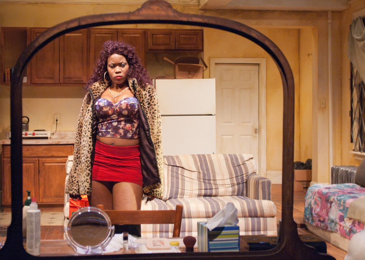 "Anji White in ""Sunset Baby"" at TimeLine Theatre. (Photo: Lara Goetsch)"
