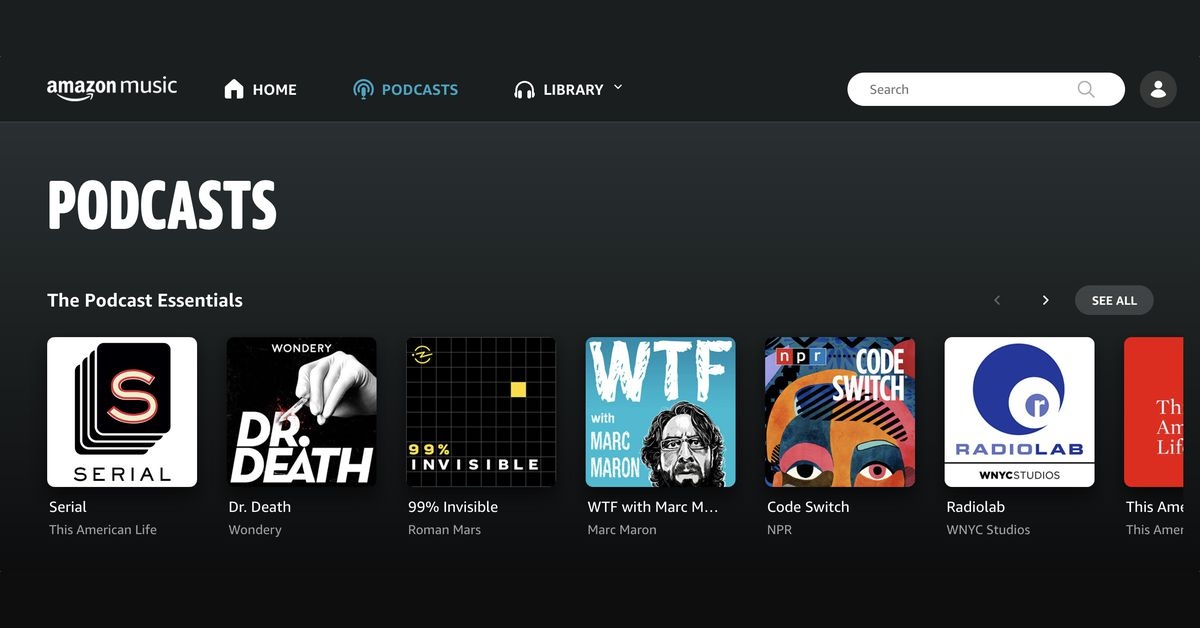 Amazon Music rolls out free podcasts, taking over Spotify