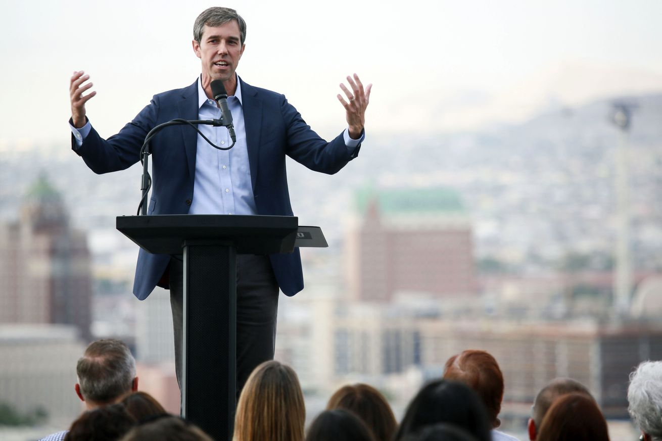 Democratic Presidential Candidate Beto O'Rourke Gives Campaign Address In His Hometown Town Of El Paso, Texas