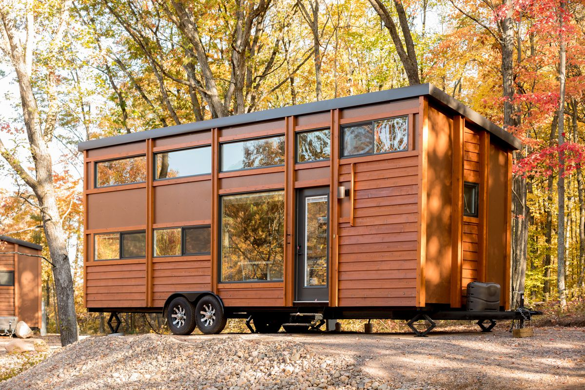 An Escape Traveler XL tiny home. Photos by Steve Niedorf courtesy Escape  Village