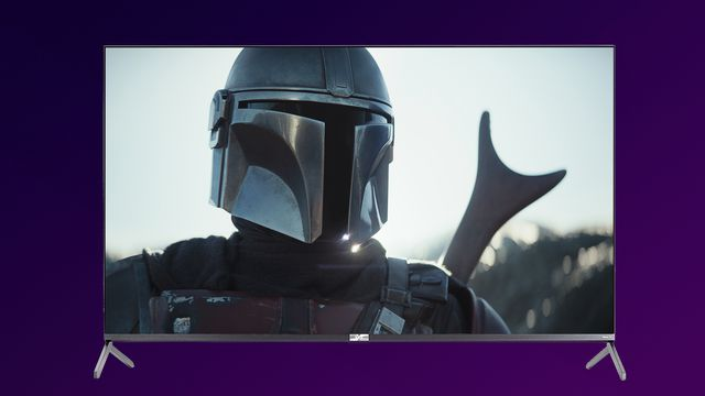 TCL TV with image from The Mandalorian
