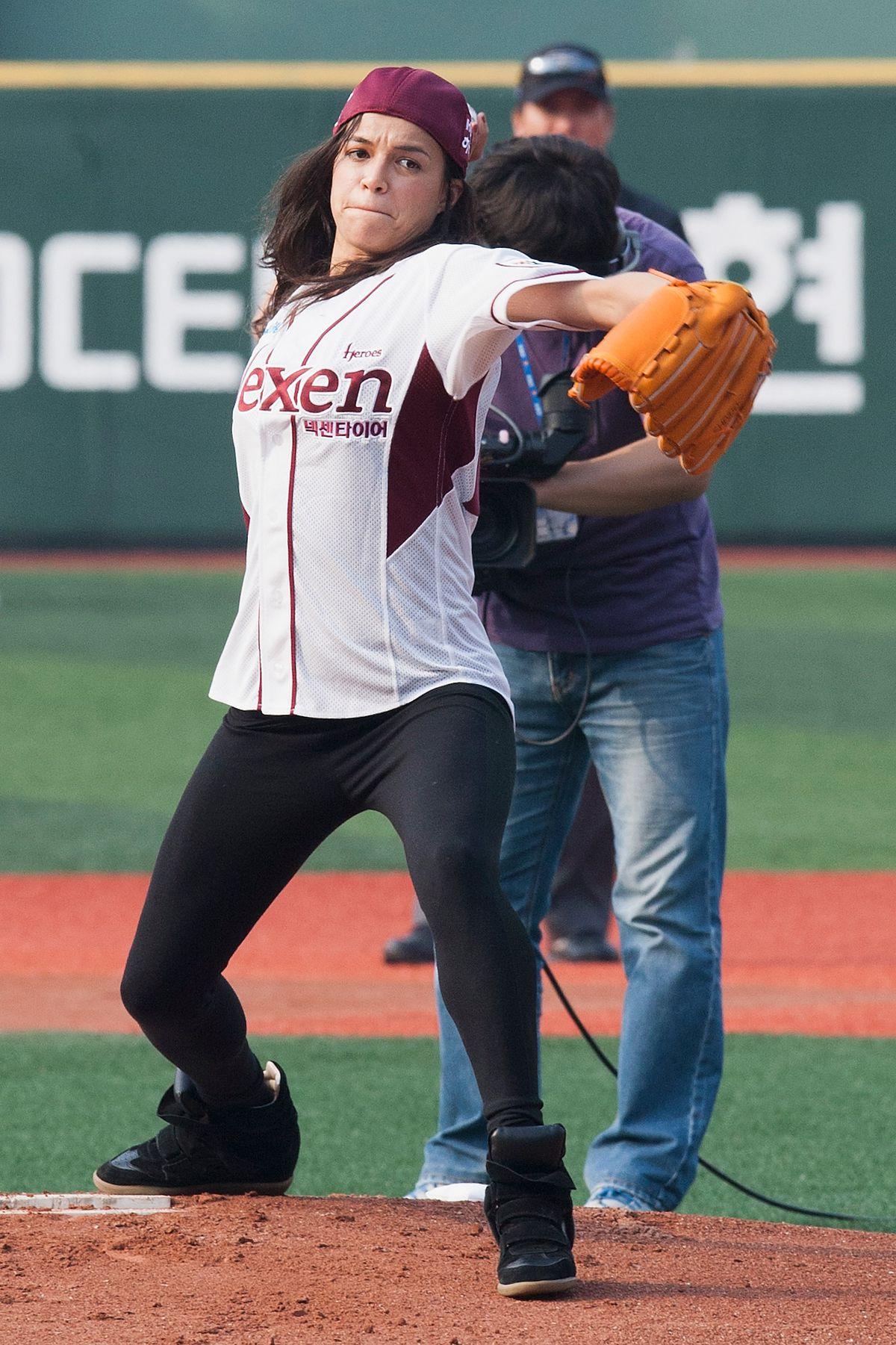 Michelle Rodriguez Attends Nexen Heroes v SK Wyverns Baseball Match