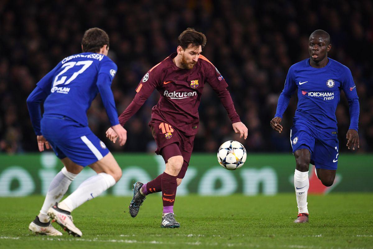 Bilderesultat for Chelsea - Barcelona 1-1 Messi