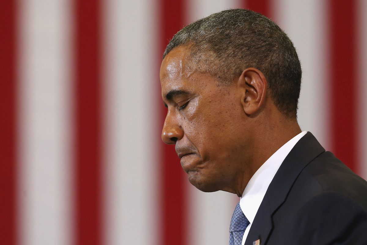 Sad Obama