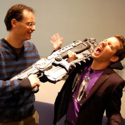 Tim and Cliff at GDC 2008