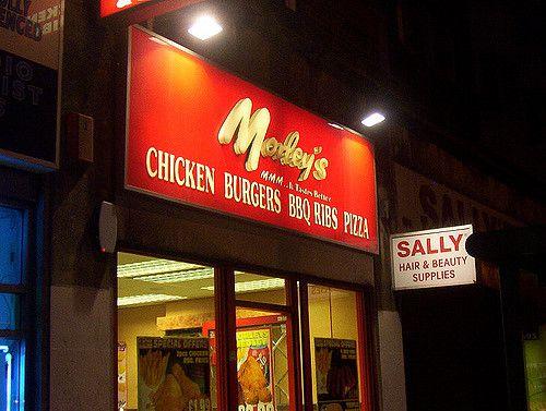 Morleys Fried Chicken restaurant in Brixton, London