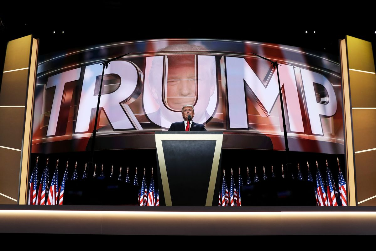 Donald Trump's speech at the Republican convention in 2016.