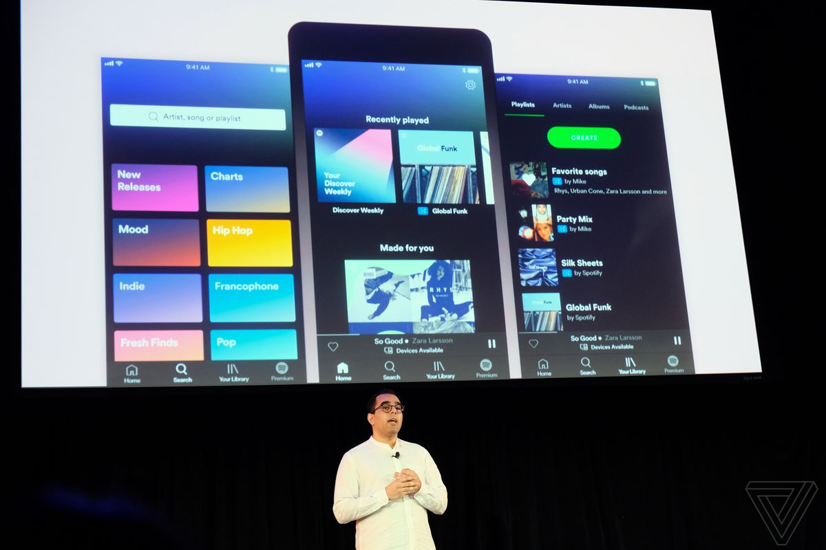 Spotify launches a redesigned app with on-demand playlists for free