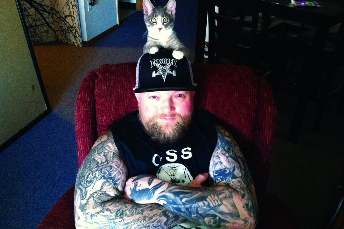 """A photo from Metal Cats, available on <a href=""""http://www.amazon.com/Metal-Cats-Alexandra-Crockett/dp/1576876772/ref=sr_1_1?ie=UTF8&amp;qid=1418679194&amp;sr=8-1&amp;keywords=metal+cats"""">Amazon</a> for $8.19"""