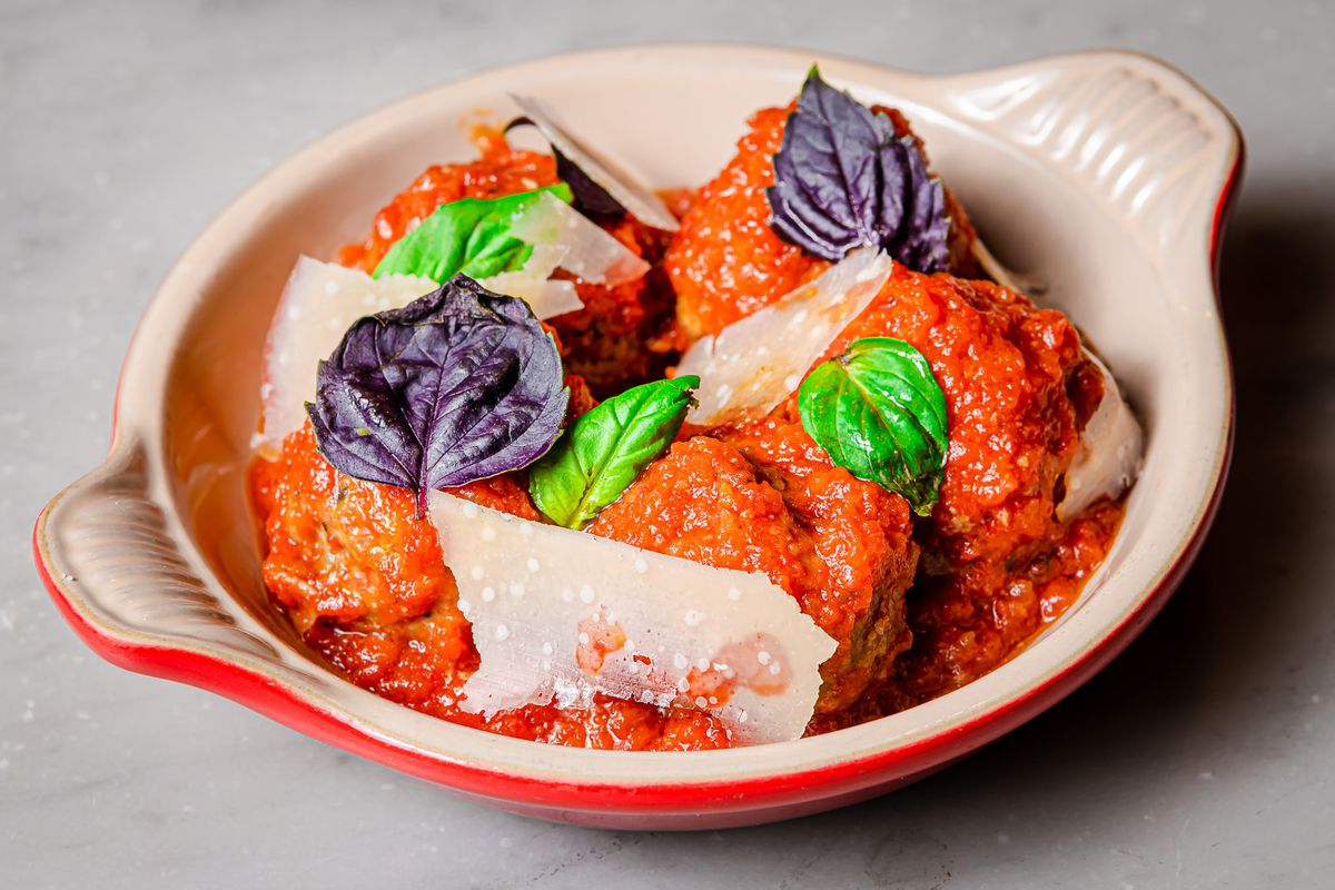 Meatballs from Tosca Cafe