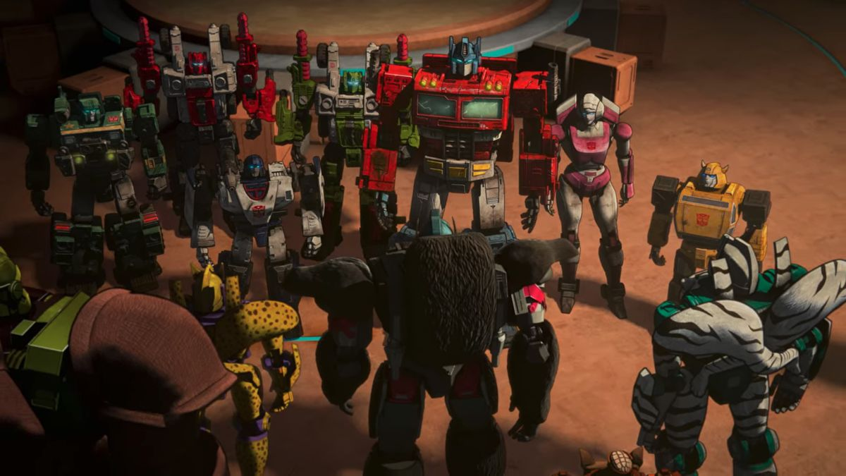 Beast Wars and War for Cybertron transformers