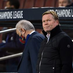 Koeman not looking particularly happy