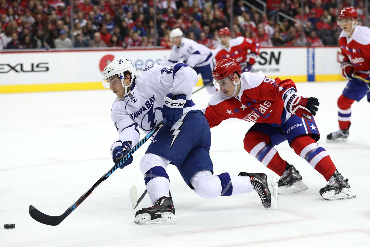 Tampa Bay Lightning vs. Washington Capitals  NHL Eastern Conference ... 26afdf1f0cb