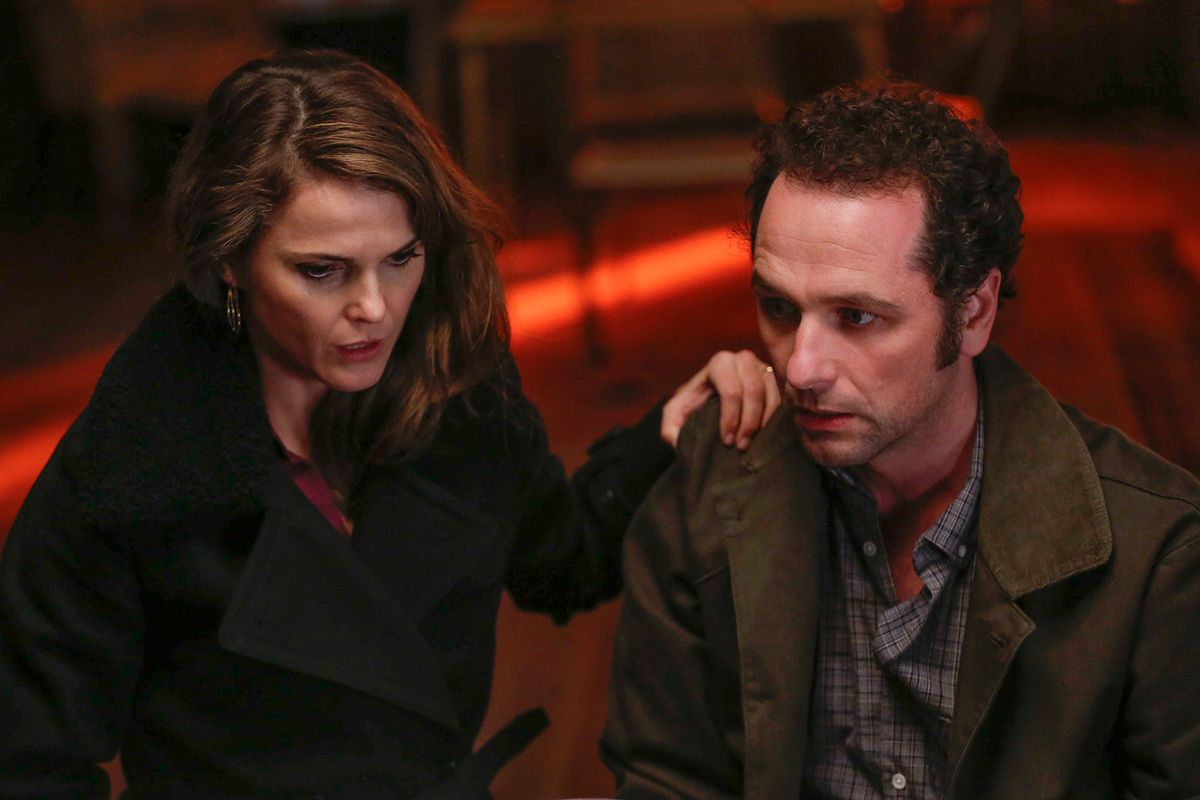 Elizabeth (Keri Russell) and Philip Jennings (Matthew Rhys) in FX's <i>The Americans</i>.