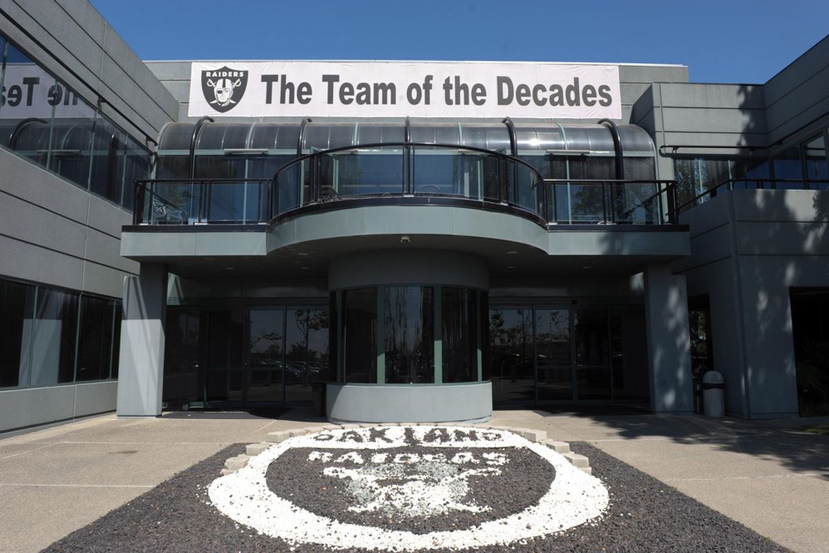 General view of the Oakland Raiders practice facility exterior. Mandatory Credit