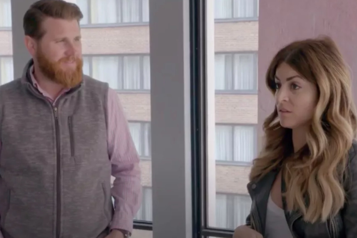 """Alison Victoria and Donovan Eckhardt in a scene from HGTV's """"Windy City Rehab."""""""