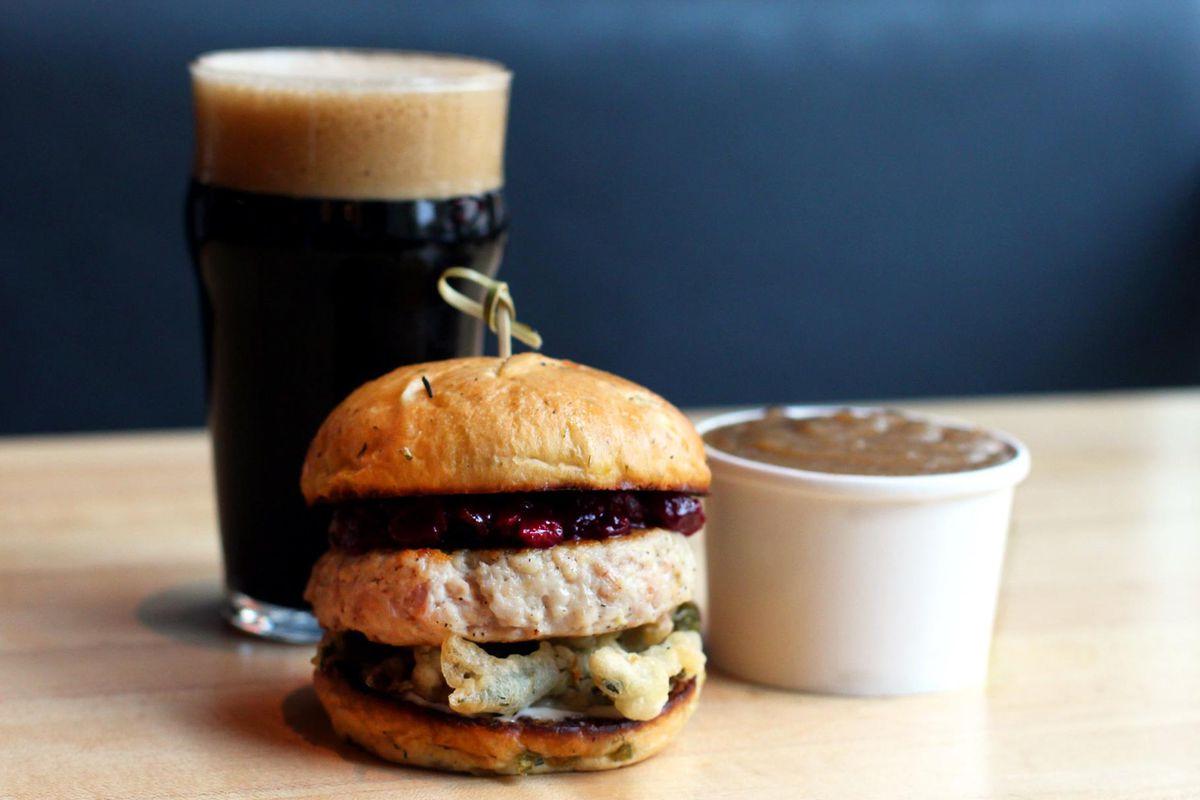Hopdoddy Burger Bar's turducken burger