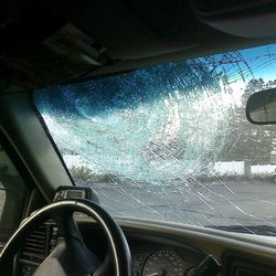 Strong winds caused extensive damage including flying debris that shattered a vehicle's window in Davis County  Thursday, Dec. 1, 2011.