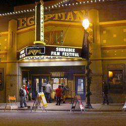 Park City Main Street is lit up during the Sundance Film Festival in Park City.