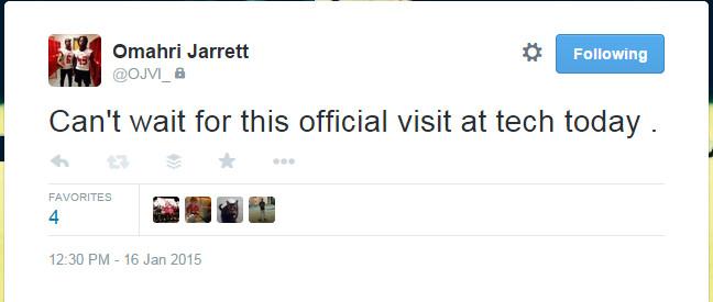 Omahri Jarrett Tweet