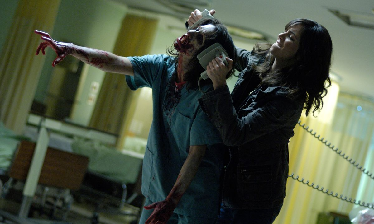 An attack in George A. Romero's zombie movie Diary of the Dead