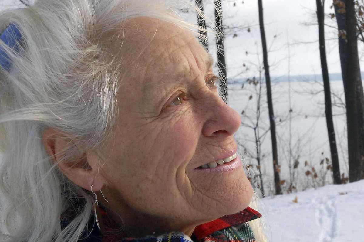 """FILE In this Dec. 10, 2007 file photo, Anne LaBastille poses in Westport, N.Y.  LaBastille, the environmentalist, sometime hermit and Adirondack author whose """"Woodswoman"""" autobiographies inspired others to venture into the wilderness, has died at a nursin"""