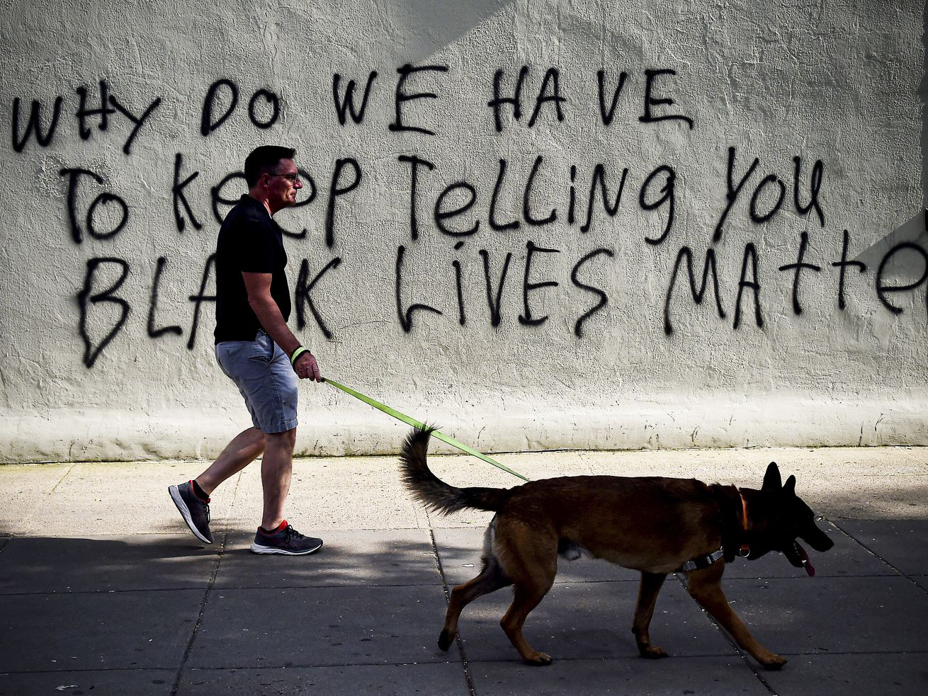 "Graffiti near the White House reads, ""Why do we have to keep telling you black lives matter?"""
