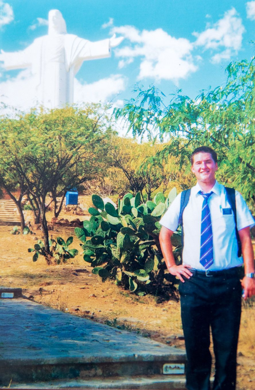 A personal photo of Joseph Hack on his mission in Bolivia for the LDS Church. Hack just recently had his name removed from the LDS church record using quitmormon.com.