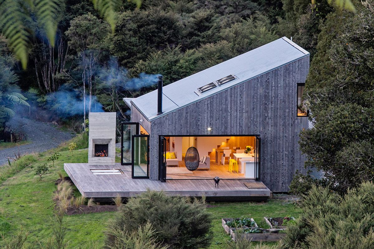 new zealand s backcountry huts inspired this breezy open home curbed