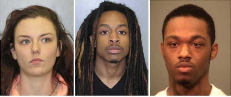 From left: Bobbie J. Ollom, Joshua T. Anderson and Christopher C. Parker | Joliet police