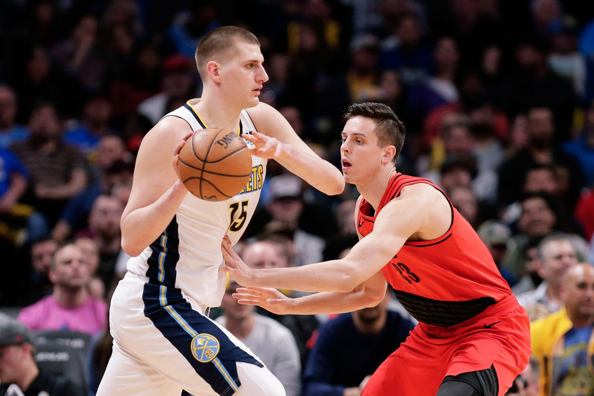 Image result for nikola jokic vs blazers usa today