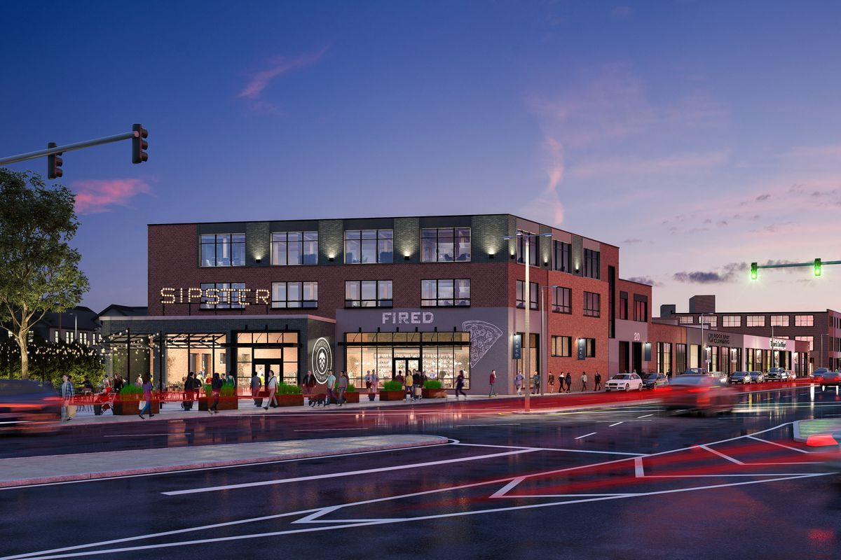 Rendering of the future home of Tatte's expansion in South Boston