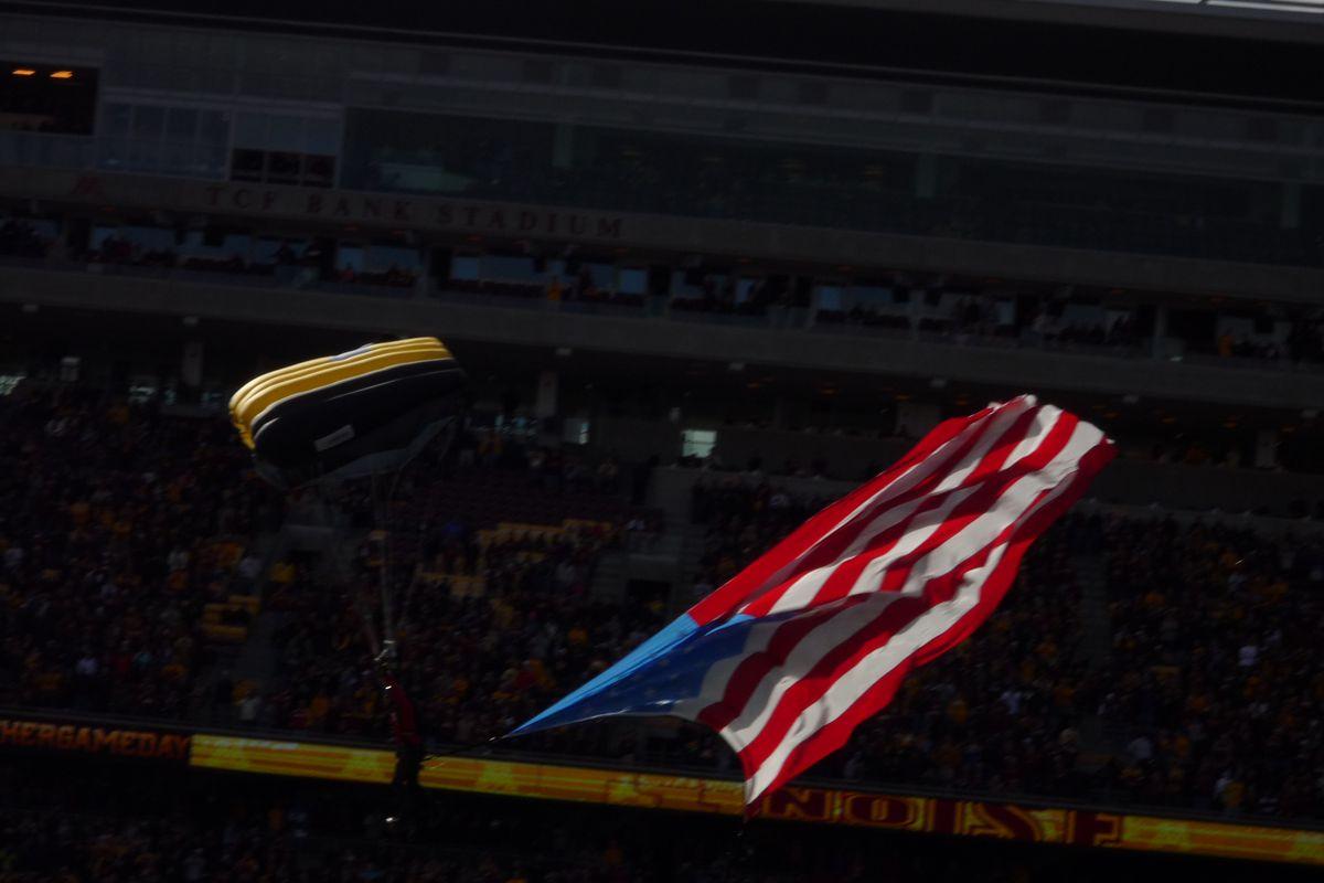 Pregame at the University of Minnesota Homecoming game vs Purdue, 10/18/2014