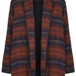 """Topshop fluffy striped wool duster jacket, <a href=""""http://us.topshop.com/en/tsus/product/clothing-70483/jackets-coats-2390895/fluffy-striped-wool-duster-jacket-3407122?bi=1&ps=200"""">$156</a>"""