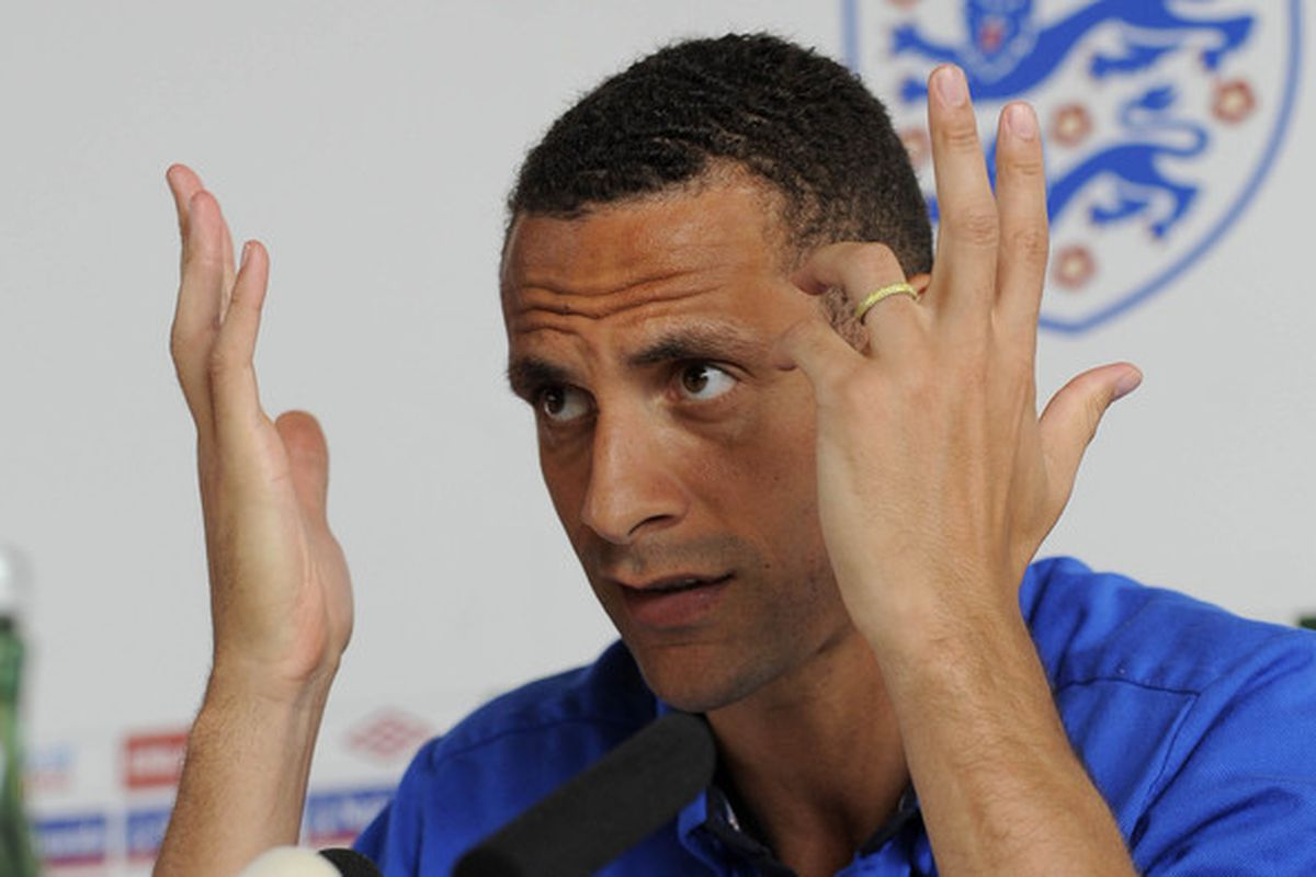 IRDNING, AUSTRIA - MAY 29:  England Captain, Rio Ferdinand speaks during the England press conference ahead of their friendly match against Japan tomorrow, on May 29, 2010 in Irdning, Austra. (Photo by Michael Regan/Getty Images)