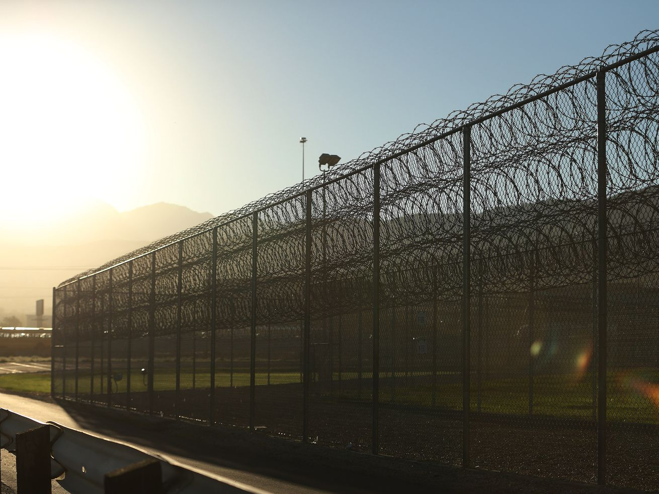 The sun rises over the Utah State Prison in Draper on Sept. 19, 2018.