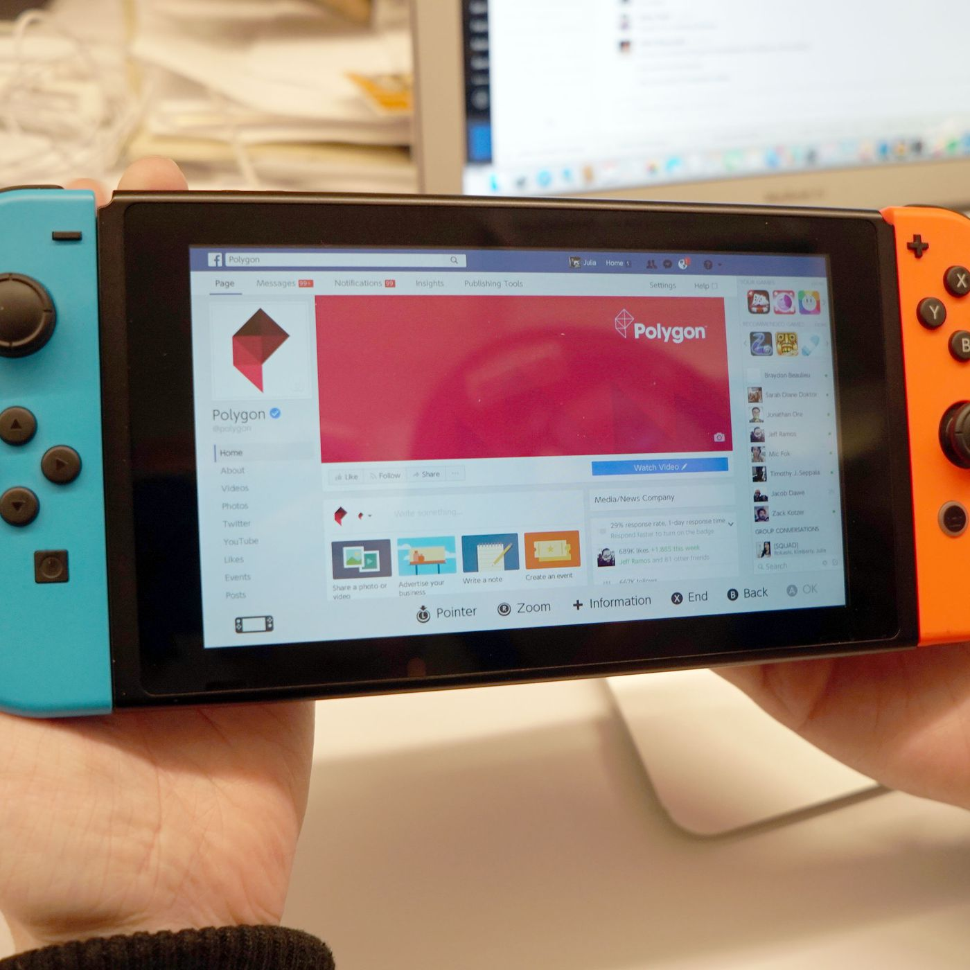How to access Facebook and Twitter on your Switch, without a
