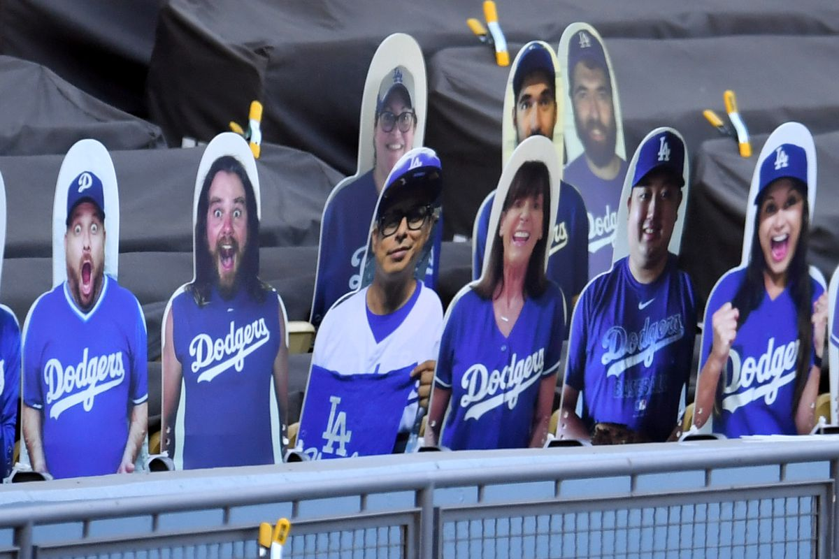 Los Angeles Dodgers play an inter squad game with no fans during summer camp workout in preparation for the 2020 season due to the Coronavirus Pandemic.