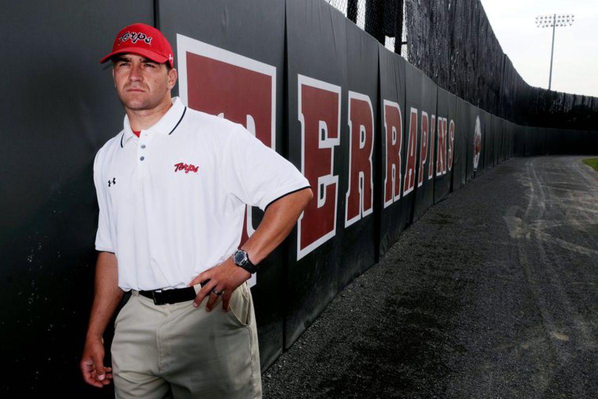 New MD head coach, Erik Bakich... Last time Tech saw him, Vanderbilt was complaining about Kappa Sig's speaker volume over the center field wall... It was awkward.