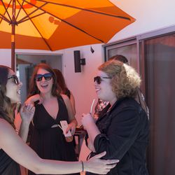 Racked managing editor Tiffany Yannetta, Racked EIC Britt Aboutaleb, and Racked contributor Lindsey Weber having the time of their life.