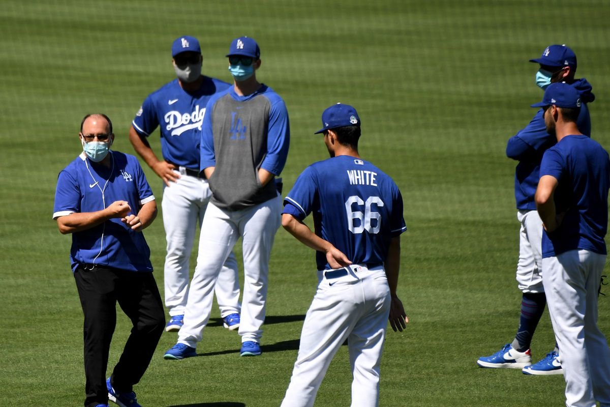 Los Angeles Dodgers first summer camp workout in preparation for the 2020 season due to the Coronavirus Pandemic.