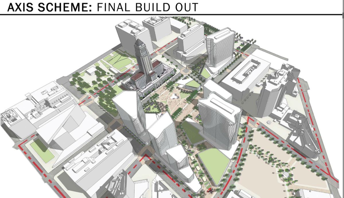 Rendering of Civic Center built out