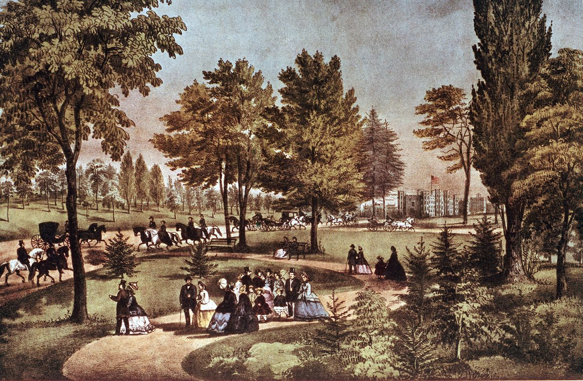 Central Park in the 1870s
