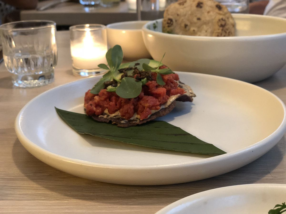 Beef tartare at Oxomoco