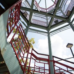 A flight of stairs in Chinatown Square.   Colin Boyle/Sun-Times